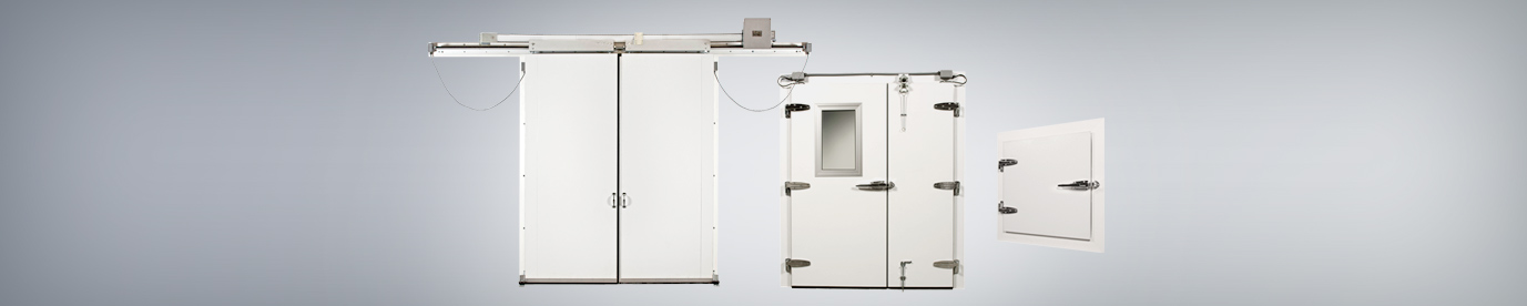 Replacement walk-in cooler and freezer doors by Everidge reduce energy costs, counteract bacterial growth, improve access, and prevent workplace accidents.