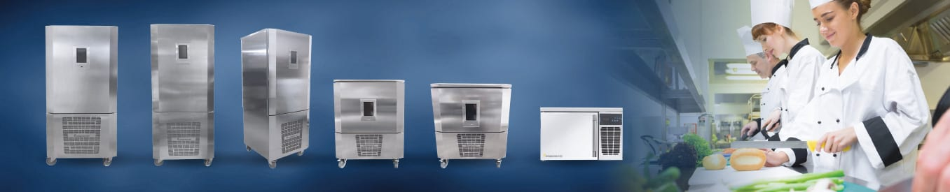 Commercial Blast Freezers & Blast Chillers from PrepRite by Everidge move food from serving- to storing-temperatures quickly and safely.